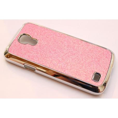 Galaxy S4 Mini vaaleanpunainen glitter suojakuori.