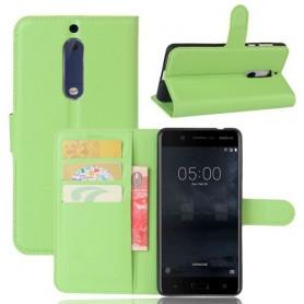 Nokia 5 vihreä puhelinlompakko
