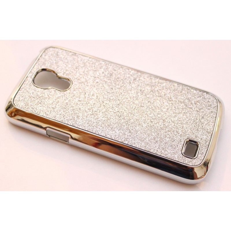 Galaxy S4 Mini hopea glitter suojakuori.
