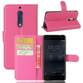 Nokia 5 pinkki puhelinlompakko