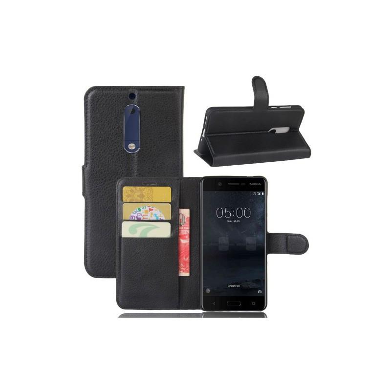 Nokia 5 musta puhelinlompakko