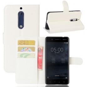 Nokia 5 valkoinen puhelinlompakko