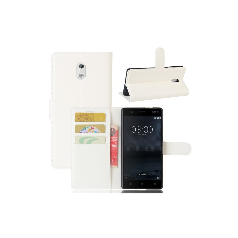 Nokia 3 valkoinen puhelinlompakko