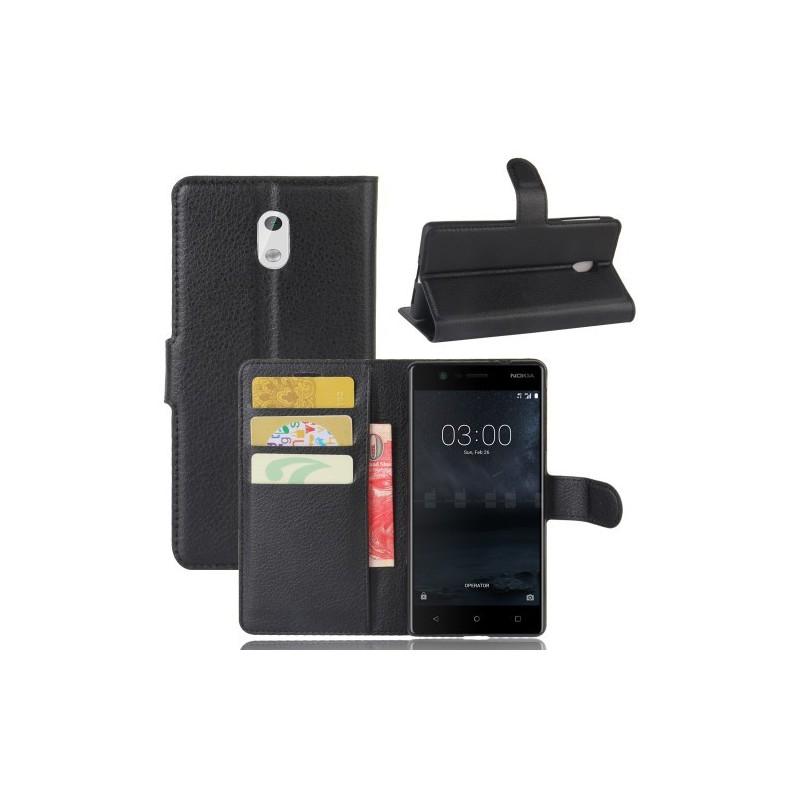 Nokia 3 musta puhelinlompakko