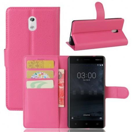 Nokia 3 pinkki puhelinlompakko