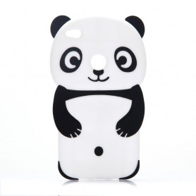 Huawei Honor 8 Lite valkoinen panda silikonisuojus.