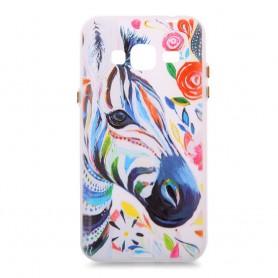 Samsung Galaxy J3 värikäs seepra silikonisuojus.