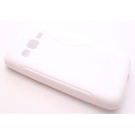 Galaxy Express 2 valkoinen silikonisuojus.