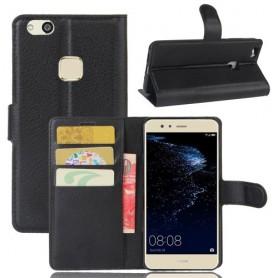 Huawei P10 Lite musta puhelinlompakko