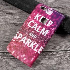 Huawei P10 Lite keep calm puhelinlompakko