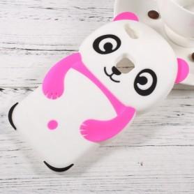 Huawei P10 Lite pinkki panda silikonisuojus.
