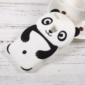 Huawei P10 Lite valkoinen panda silikonisuojus.