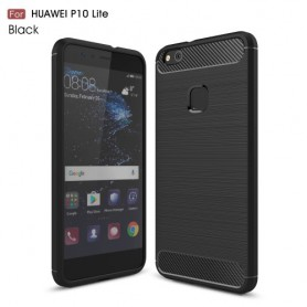 Huawei P10 Lite musta suojakuori.