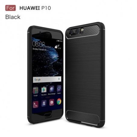 Huawei P10 musta carbon suojakuori
