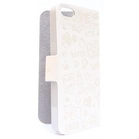 iPhone 5 valkoinen kuviollinen kansikotelo.
