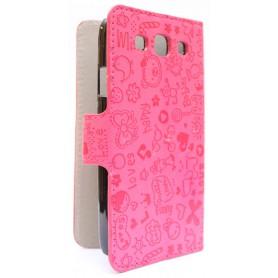 Galaxy S3 hot pink kuviollinen kansikotelo.