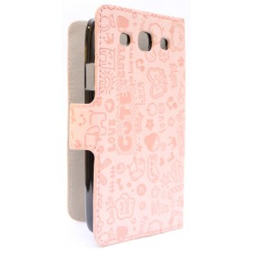 Galaxy S3 vaaleanpunainen kuviollinen kansikotelo.