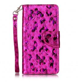 Huawei Honor 7 Lite hot pink bling bling puhelinlompakko