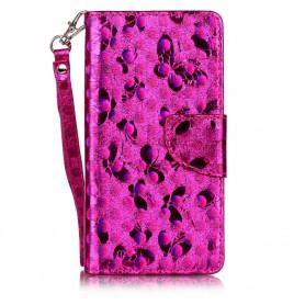 Huawei Honor 7 hot pink bling bling puhelinlompakko