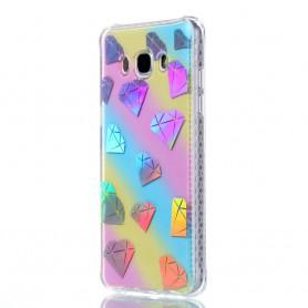 Samsung Galaxy J5 2016 värikäs timantit suojakuori.