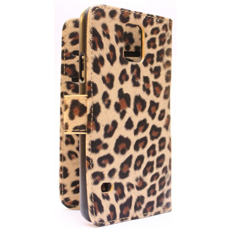 Galaxy S5 leopardi puhelinlompakko