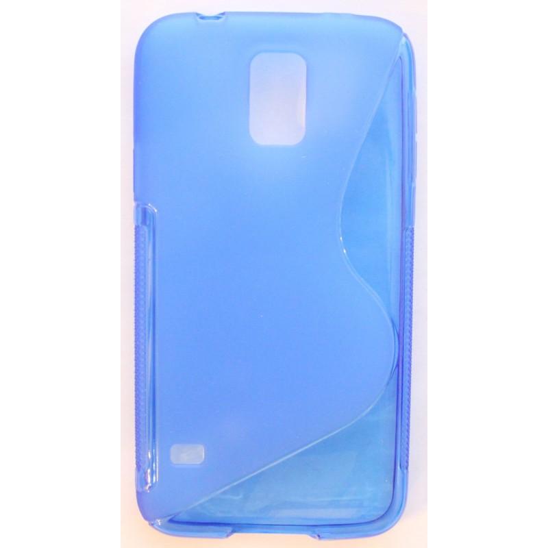 Galaxy S5 sininen silikonisuojus.
