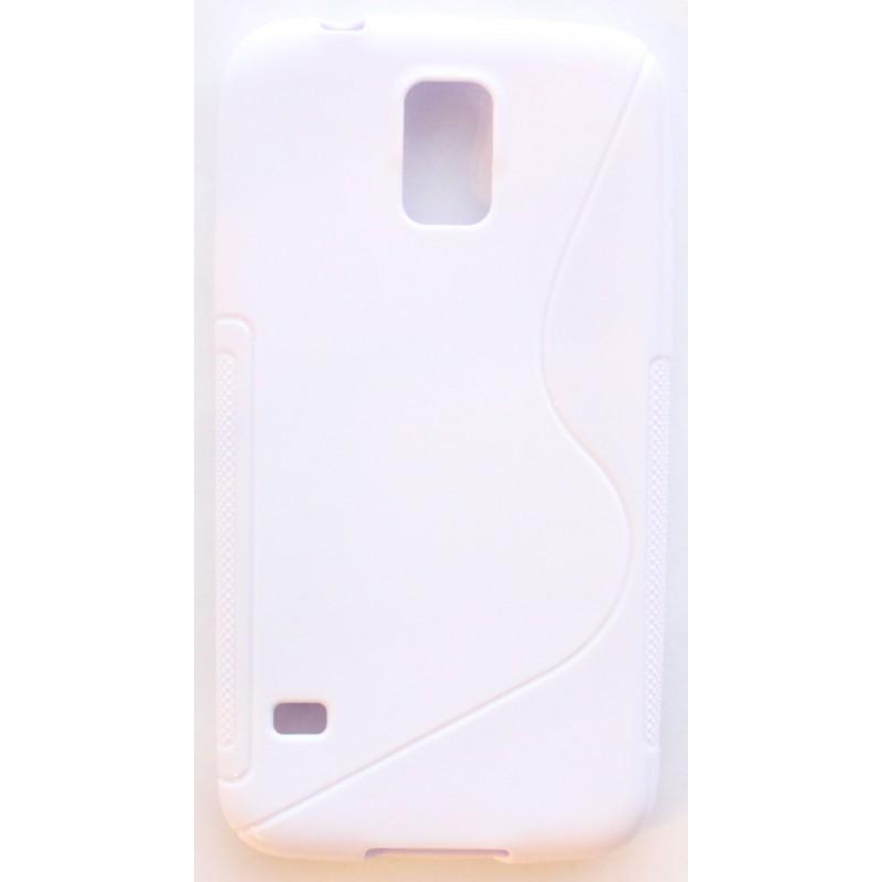 Galaxy S5 valkoinen silikonisuojus.
