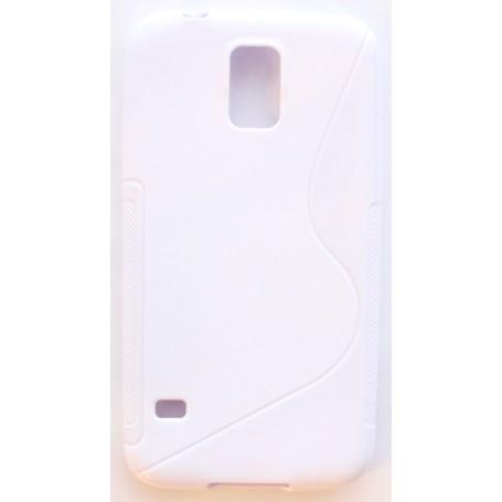 Galaxy S4 valkoinen silikonisuojus.