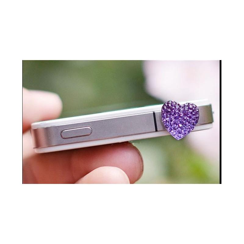Koriste kännykkään - violetti sydän.