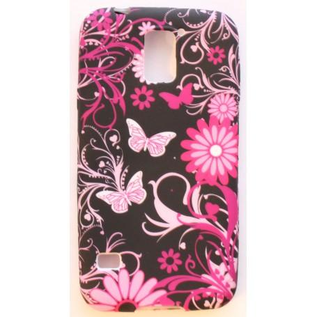 Galaxy S5 kukkia ja perhosia silikonisuojus.