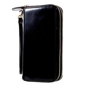 Musta käsilaukku puhelimelle
