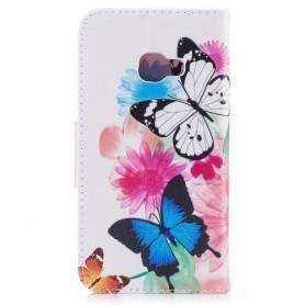 Samsung Xcover 4 perhoset puhelinlompakko