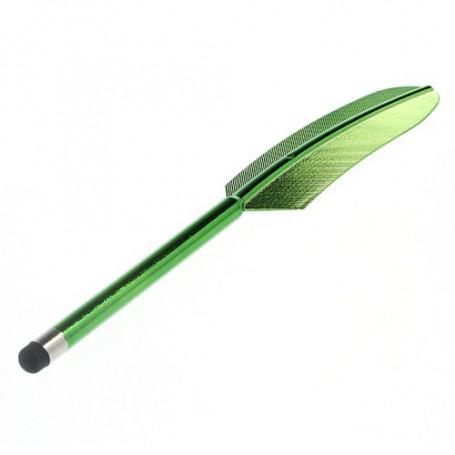 Sulkakynän mallinen vihreä kosketusnäyttökynä