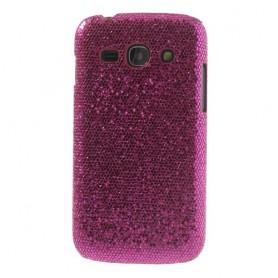 Galaxy ace 3 hot pink glitter suojakuori.