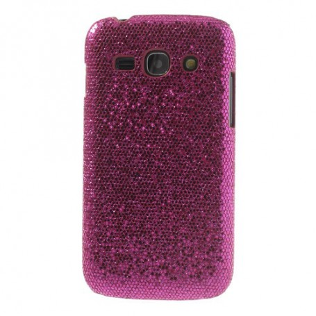 Galaxy ace 3 hot pink glitter suojakuori.