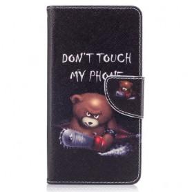 Nokia 5 vihainen nalle puhelinlompakko