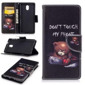 Nokia 3 vihainen nalle puhelinlompakko
