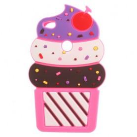 Huawei Honor 8 Lite hot pink jäätelo silikonisuojus.