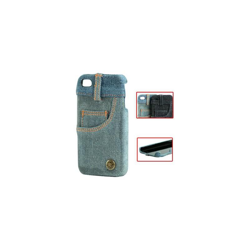 Apple iPhone 4 suojakuori farkkukangas.