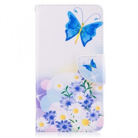 Nokia 5 sininen perhonen puhelinlompakko