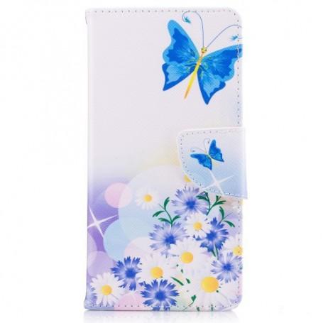 Nokia 3 sininen perhonen puhelinlompakko
