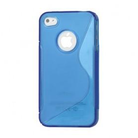 iPhone 4 sininen silikoni suojakuori.