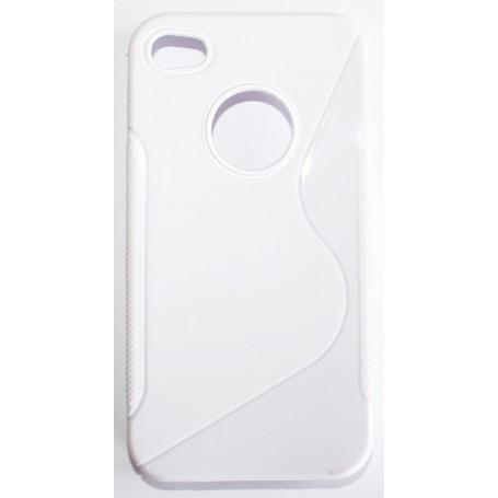 iPhone 4 valkoinen silikoni suojakuori.