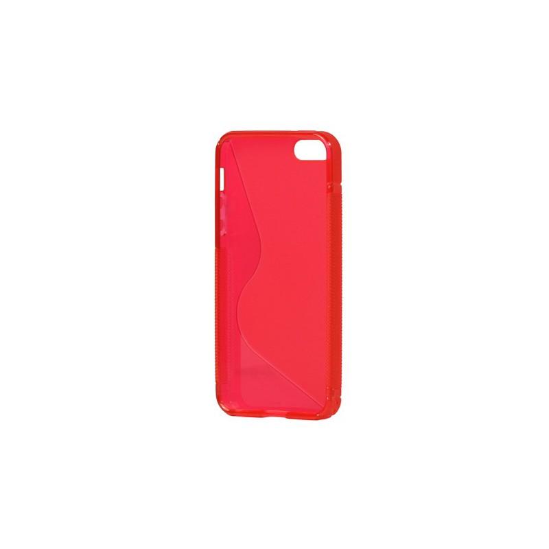 iPhone 5 punainen silikoni suojakuori.