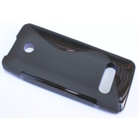 Nokia 301 musta silikonisuojus.