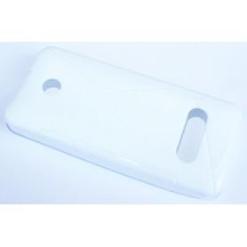 Nokia 301 valkoinen silikonisuojus.