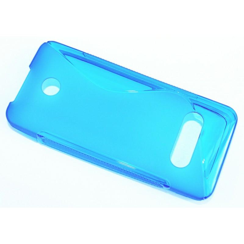 Nokia 301 sininen silikonisuojus.