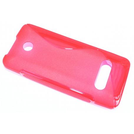 Nokia 301 punainen silikonisuojus.