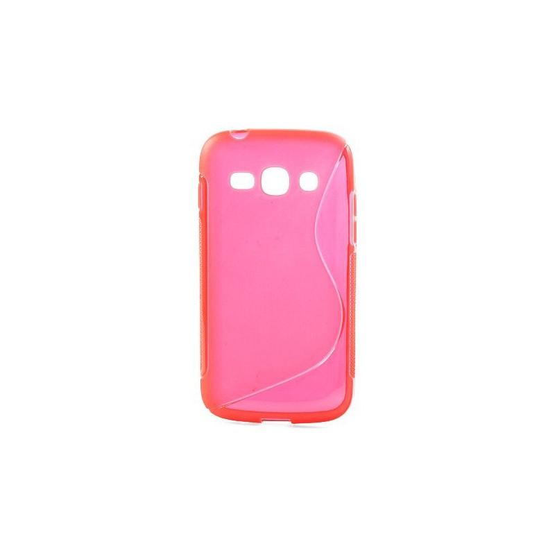 Galaxy ace 3 roosan punainen silikonisuojus.