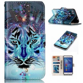 Huawei Honor 8 Lite sininen tiikeri puhelinlompakko